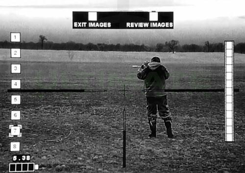 image of hunter using IR Defense scope